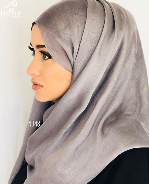 True Grey Cotton Silk Scarf