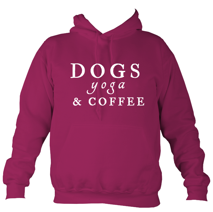 Dogs, Yoga and Coffee Unisex Hoodie