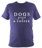 Dogs, Yoga and Coffee Unisex Tee