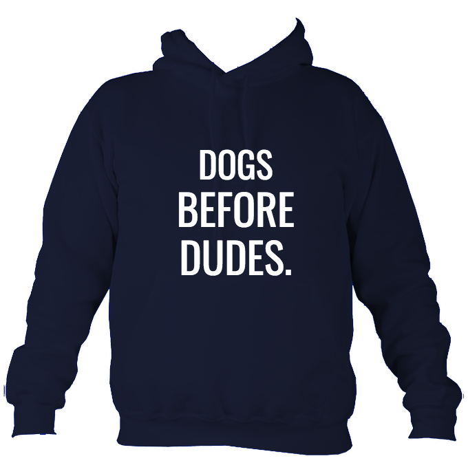 Dogs Before Dudes Ladies Hoodie