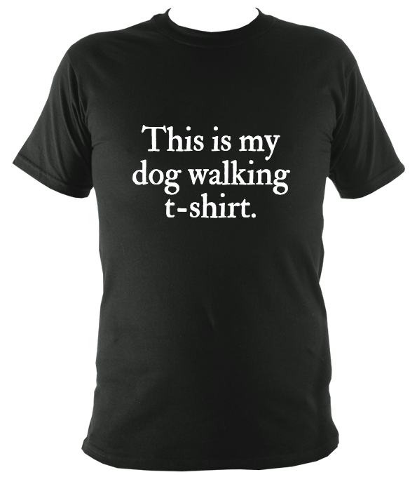 Unisex Dog Walking T-Shirt