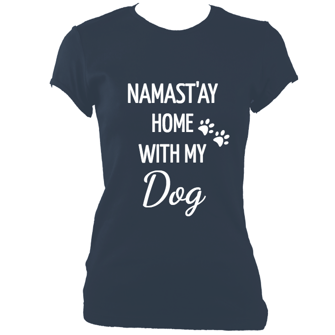 Namast'ay Home With My Dog Ladies Tee