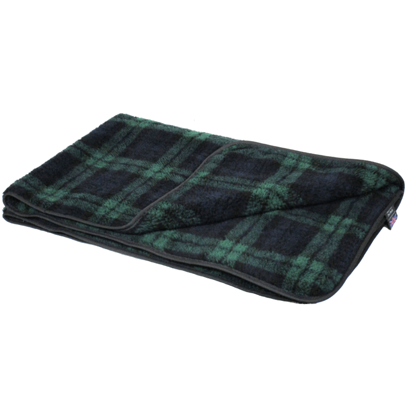 Black Watch Double Thickness Sherpa Fleece Pet Blanket