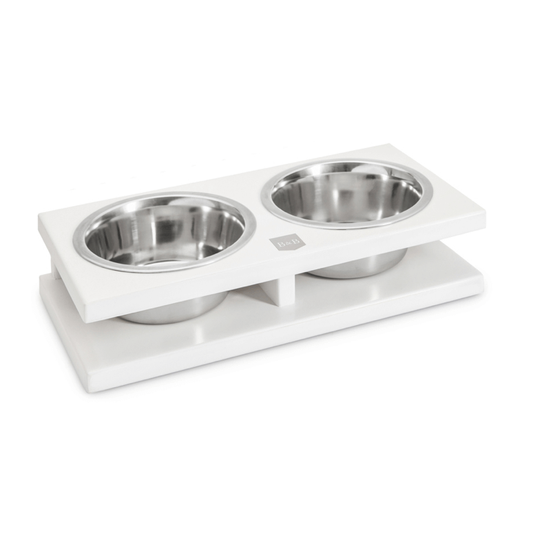 Bowl and Bone Jasmine Grande Double Dog Bowl Stand
