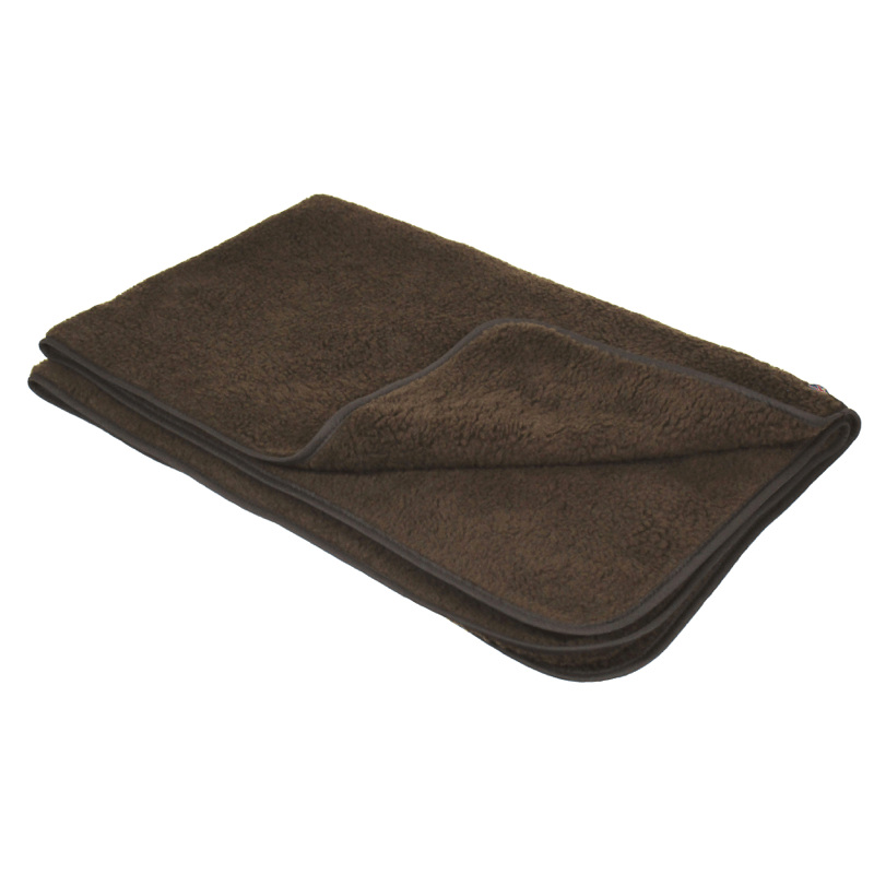 Brown Double Thickness Sherpa Fleece Pet Blanket