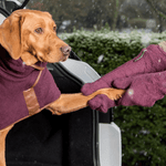 Ruff and Tumble Dog Drying Gloves in Burgundy