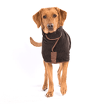 Ruff And Tumble Country Collection Dog Drying Coat in Mud Brown