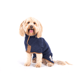Ruff And Tumble Country Collection Dog Drying Coat in French Navy