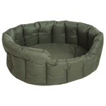 Country Heavy Duty Waterproof Oval Drop Front Dog Beds by Pets and Leisure
