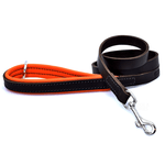 Dogs & Horses Luxury Orange Padded Leather Dog Lead