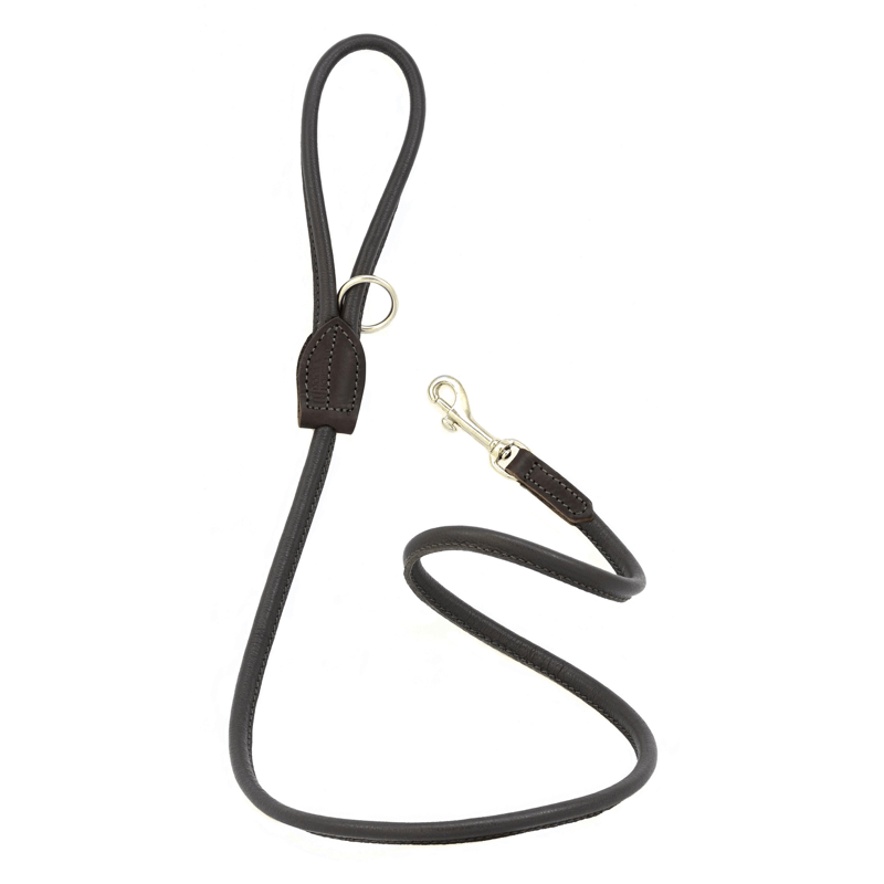 Dogs & Horses Soft Rolled Leather Lead Brown