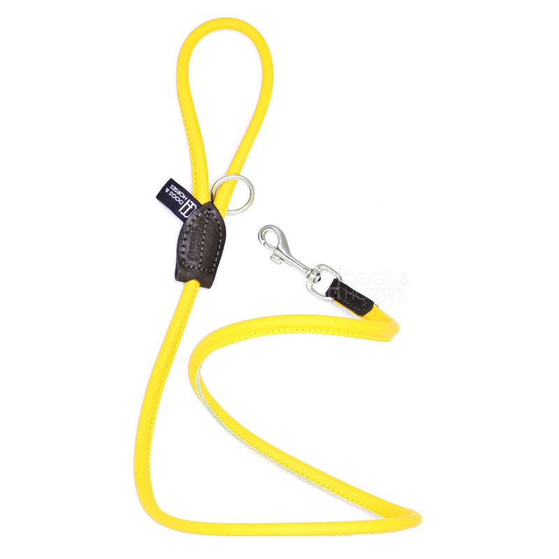 Dogs & Horses Soft Rolled Leather Lead Yellow
