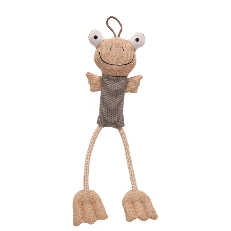 Fenton the Long Legs Frog Dog Toy by Danish Design