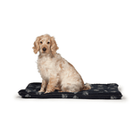 Fleece Navy Paw Print Crate Bed by Danish Design