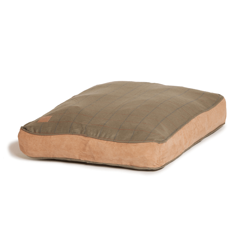 Green Tweed Box Duvet Dog Bed by Danish Design