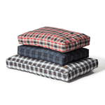 Lumberjack Box Duvet Dog Bed in Red and Grey