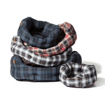 Lumberjack Deluxe Slumber Dog Bed in Red and Grey