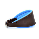 Luxury Blue Leather Hound Collar by Dogs & Horses