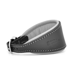 Luxury Grey Leather Hound Collar by Dogs & Horses