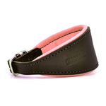 Luxury Pink Leather Hound Collar by Dogs & Horses