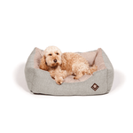 Maritime Green and Red Snuggle Dog Bed