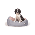 Maritime Blue and Red Snuggle Dog Bed