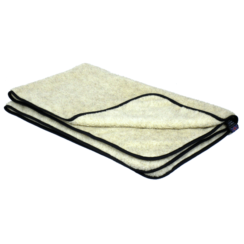 Oatmeal Double Thickness Sherpa Fleece Pet Blanket