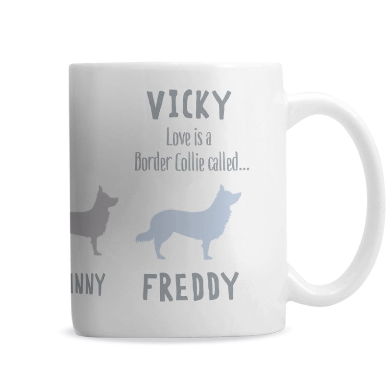 Border Collie Personalised Dog Mug