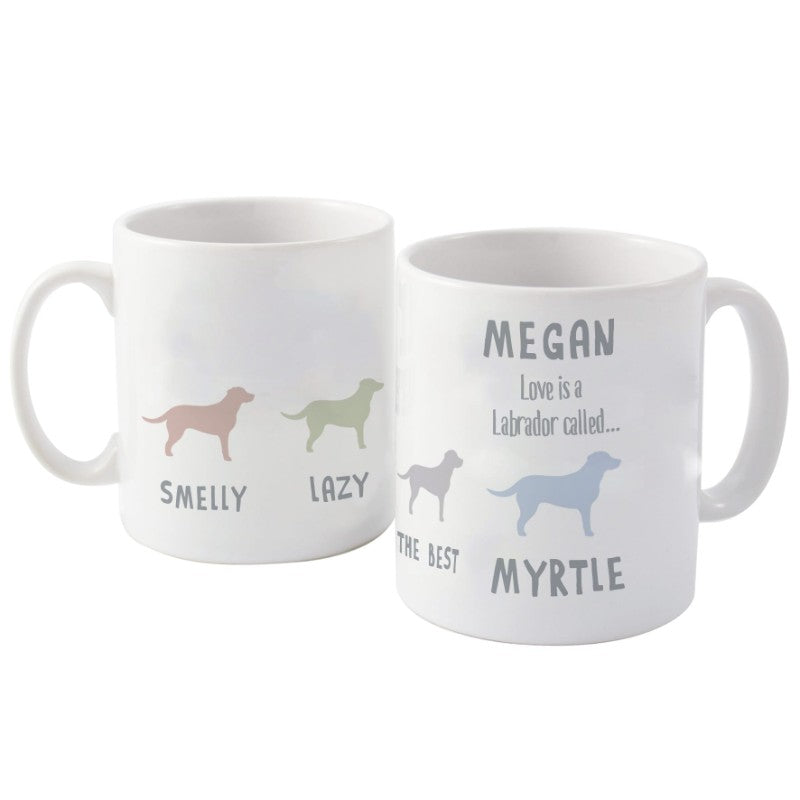 Labrador Personalised Dog Mug