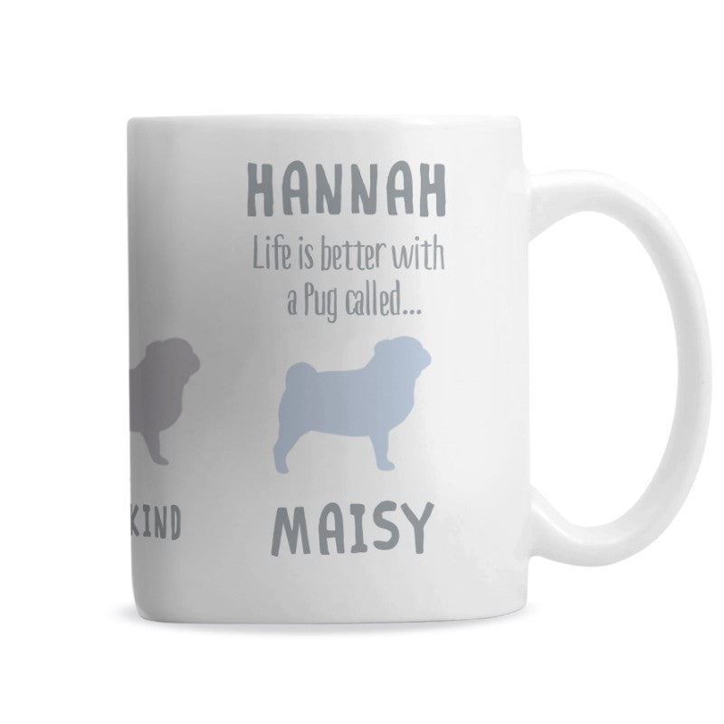 Pug Personalised Dog Mug
