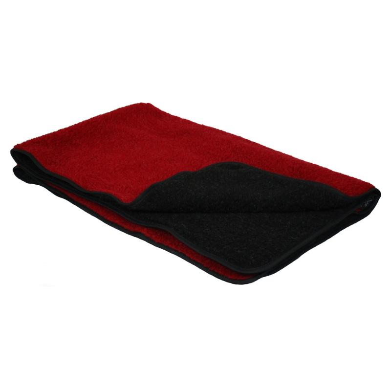 Red and Black Double Thickness Sherpa Fleece Pet Blanket
