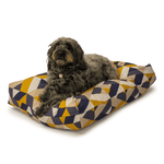 Retreat Geo Tiles Memory Foam Duvet Dog Bed by Danish Design