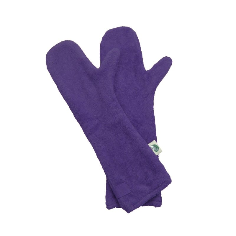 Ruff and Tumble Dog Drying Gloves in Heather Purple
