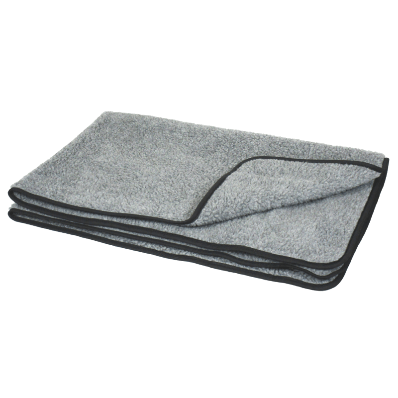 Silver Grey Double Thickness Sherpa Fleece Pet Blanket