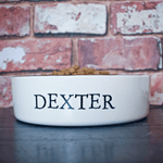 Personalised Stamp Dog Bowls