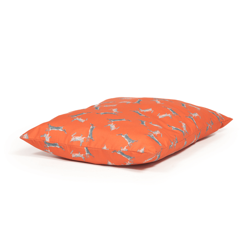 Woodland Range Boxing Hares Deep Duvet Dog Bed by Danish Design