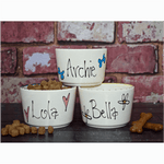 Extra Small Personalised Ceramic Dog Bowl