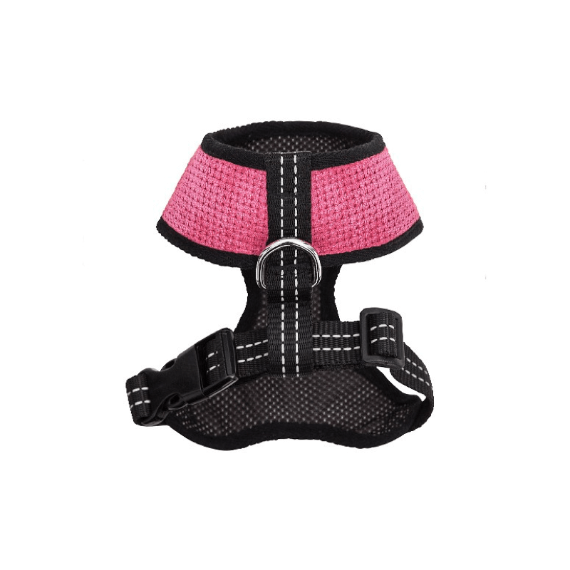 Bowl and Bone Candy Pink Dog Harness and Lead Set