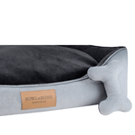 Bowl and Bone Classic Dog Bed in Grey