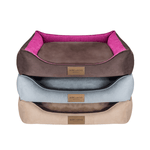 Bowl and Bone Classic Dog Bed in Beige and Brown