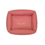 Bowl and Bone Loft Dog Bed in Coral Pink