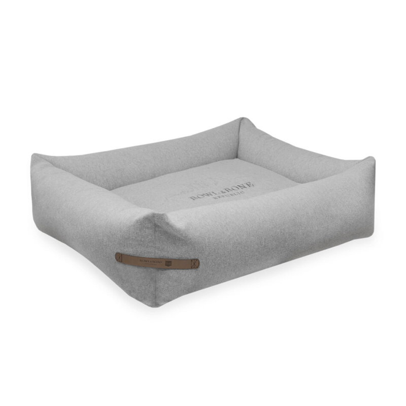 Bowl and Bone Loft Dog Bed in Pale Grey