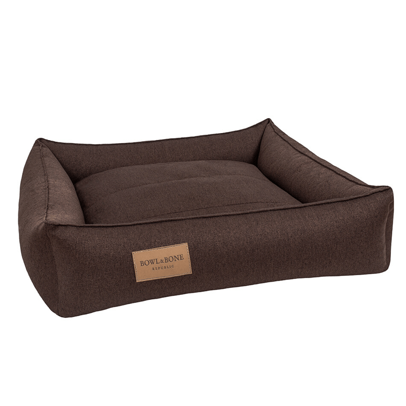 Bowl and Bone Urban Dog Bed in Brown