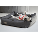 Bowl and Bone Urban Dog Bed in Graphite