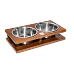 Bowl and Bone Amber Grande Double Dog Bowl Stand