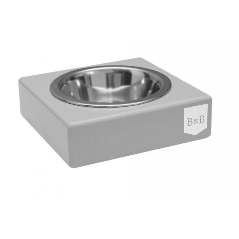 Bowl and Bone Grey Single Dog Bowl