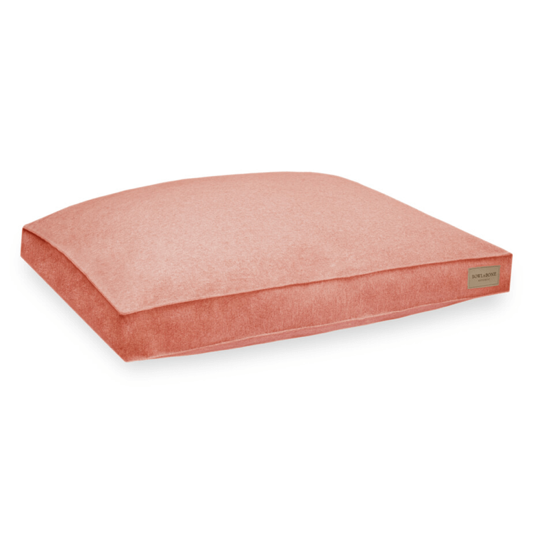 Bowl and Bone Loft Dog Cushion Bed Coral