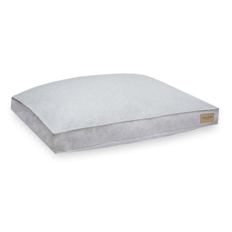 Bowl and Bone Loft Dog Cushion Bed Pale Grey