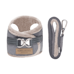 Bowl and Bone Yeti Grey Dog Harness and Lead Set
