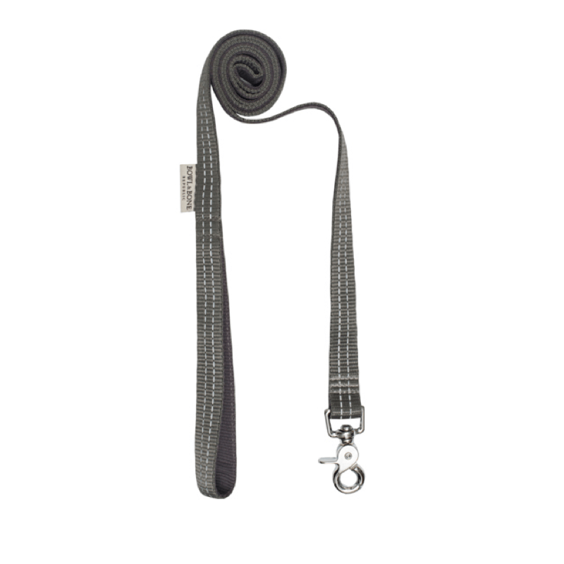 Bowl and Bone Active Grey Dog Harness and Lead Set